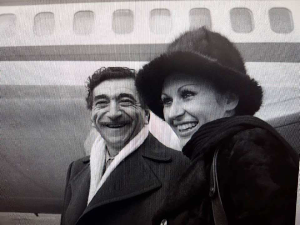 Георги Парцалев и певицата Йорданка Христова